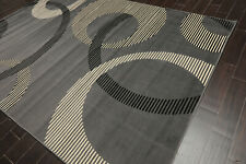8' x 11' Contemporary 100% Polypropylene Full Pile Area Rug AOR12640 8x11 Gray
