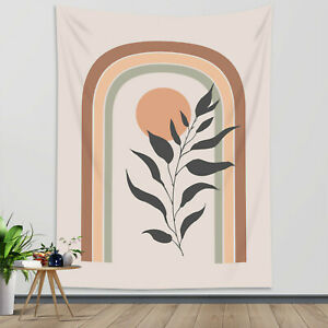 Mid Century Minimalist Tapestry Abstract Leaf Wall Hanging Living Room Bedroom