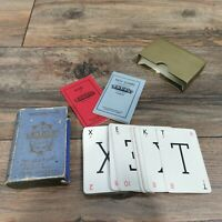 Waddingtons Vintage Lexicon Game with Blue Book Case 1935 Instructions Complete