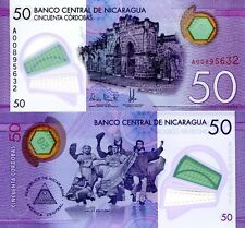 Nicaragua 50 Cordobas Banknote World Paper Money Unc Currency Pick p211 Bill