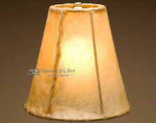 "Rawhide Lamp Shade 8"" Bell Shade  (50% Taller)"
