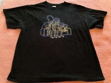 The Simpsons Men's Black T shirt Skeletons Sitting on Couch Glow In The Dark Bla