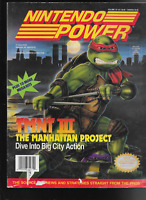 Nintendo Power #33 Poster Intact Mario Comics TMNT Terminator Simpsons 1992