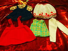 lot===5piéces garde-robe  pour poupées   25-30cm bella,gégé ,vintage