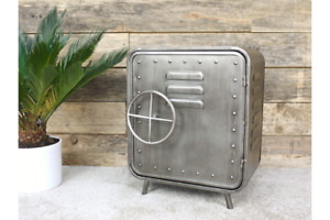 Industrial Metal Vault Style Small Storage Cabinet
