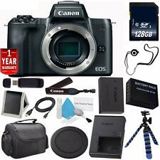 Canon EOS M50 Mirrorless Digital Camera - Black Starter Bundle