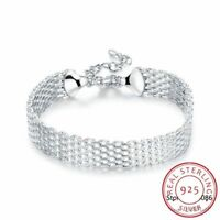 Echt 100% 925 Sterling silber Armband Charme Armreife feine Damen Schmuck.