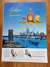 1950 Calvert Reserve Whiskey Ad the New York Sky-Line