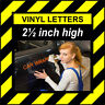 6 Characters 2.5 inch 64mm high pre-spaced stick on vinyl letters & numbers