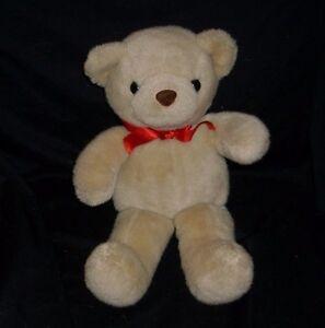 """16"""" VINTAGE 1996 GANZ BROWN TAN CUDDLE TEDDY BEAR STUFFED ANIMAL PLUSH TOY W BOW"""
