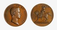 s1167_42) Torino MEDAGLIA (1838) Monumento Equestre OP: Galeazzi AE Ø 73