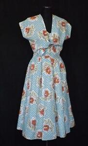 "1950s Sun Dress & Matching Bolero Jacket ""ESSBEE of LUTON"" Waist 26in Bust 34ins"