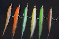 Fly Fishing Flies Chubby Chernobyl Peach Pink Bass, Trout, Salmon 6 flies