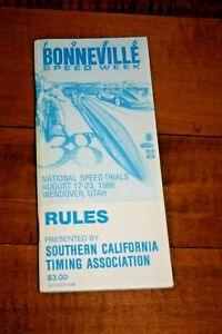 SET OF 3 BONNEVILLE SPEED WEEKS RULE AND RECORD PAMPHLETS SO. CAL. TIMING ASSOC