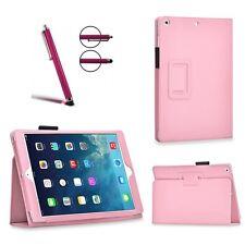 Slim Fit Cartera Piel Stand Funda Protectora Para iPad Air de Apple 1 1st Gen Rosa Bebé