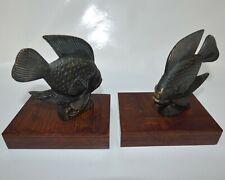 Paire Serre-Livres, Poissons en bronze, Fish Bookends,  Art Deco, France,1930