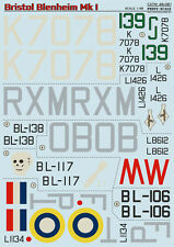 Print Scale - 48-081 - Decal for Bristol Blenheim Mk.I - 1:48