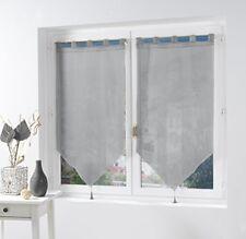 Rideaux et cantonnières gris pour la cuisine, 90 cm