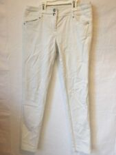 PROMOD White Stretch Cotton Blend Skinny Jeans Slim Pants Low Rise S