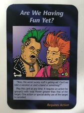 ILLUMINATI NEW WORLD ORDER CARD GAME TCG ARE WE HAVING FUN YET NEAR MINT TO MINT
