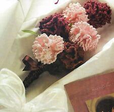 Floral Fantasy Carnation Flowers Bouquet Home Decor Crochet Pattern Instructions
