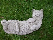 cat garden statue. laying sleeping cat cats stone garden sculpture ornament statue cat garden statue