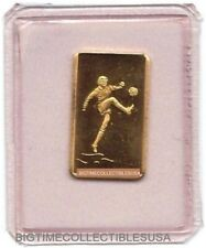 PAMP SUISSE SOCCER PLAYER ENCAPSULATED ONE GRAM GOLD BAR ULTRA RARE