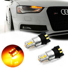 2x 10SMD PW24W PWY24W LED Turn Signal Lights Bulb Canbus Amber/Yellow
