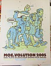 Rare 2005 Moe. Atlanta Concert Screen Print Poster Methane S/N Signed Le #/500