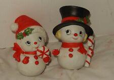 Homco #5604 Mr & Mrs. Christmas Snowman