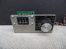 ANAHEIM AUTOMATION AA2909 Thumb wheel Counter Count W/ AS0212 9641 POT & DIAL