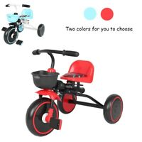 Baby Kids Toddler Tricycle Foldable Pedal Bike With Adjustable Seat Storage Box