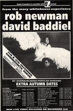 "10/10/92PGN45 ROB NEWMAN & DAVID BADDIEL CONCERT TOUR DATES ADVERT 7X5"""