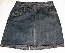 "Mossimo Blue 100% Cotton Denim Jeans Skirt ALine Below Knee Juniors 11 32"" Waist"