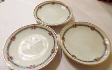 "Lot of 3 VTG Z.S.&C. Bavaria Mini Plate Jam Butter plate dish 3 1/8"" gold trim"