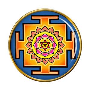 Bhagalamukhi Yantra Pin Badge