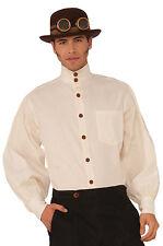 Brand New Steampunk Shirt Men Adult Costume (Beige)