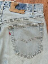 True VTG 80s Levis 505 Destroyed Distress Faded Grunge Jeans Real 32x32.5 USA