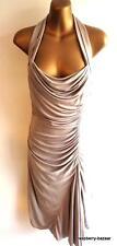 KAREN MILLEN-ECRU couleur dos nu décolleté drapé robe fabuleuse 10 (4401)