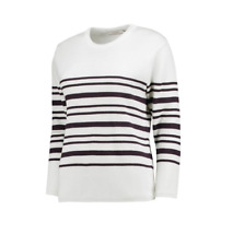 Everton Luxe Breton Top White UK 8 TD083 AC 01