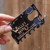 Official Wallet Ninja 18-In-1Tool Steel Pocket Screwdriver Bottle Opener Gadget