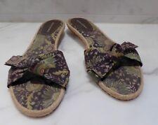 Women's BANANA REPUBLIC slides sandals size 8 jungle brown ladies VGUC!