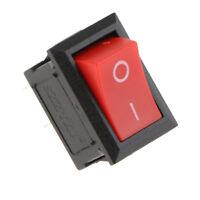 Lot 12Pcs Mini SPST On / Off Rectangle Bateau Interrupteur à Bascule AC 6A