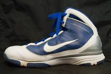 Mens Nike AirMax Blue White High Top Basketball Sneakers Shoes 8 Flywire 2011