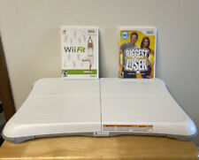 Nintendo Wii Balance Board Lot W/ Wii Fit & The Biggest Loser Game Free Shipping