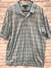 Amen Corner Mens XXL Blue Black Masters Golf Polo Shirt Pima Striped