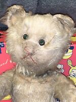 Really Early Mechanical Kitten/cat Yes/No Tail Made By Schuco C1910 Jewel Eyes