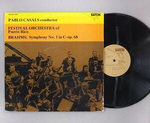 Pablo Casals - Orchestra Of Puerto Rico - Brahms - Symphony No.1 - BATON 1004