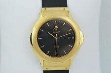 Hublot Depose 18K Automatic, midsize w/ display back, with original boxes, mint