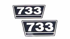 2 Typenaufkleber / Aufkleber / Decal Kit / Emblem passend für Case IH / IHC 733
